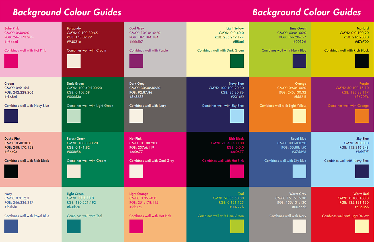 school yearbooks colour guide