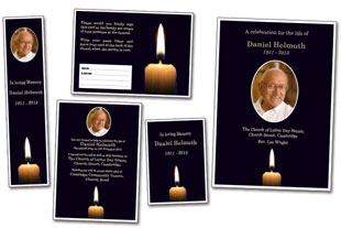 funeral template candle