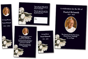 Statue funeral stationery template