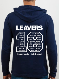 school leavers hoody back design k