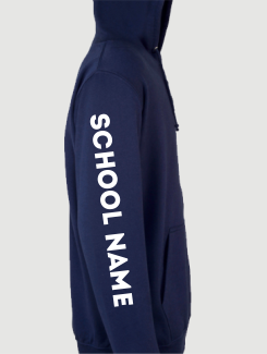 school leavers hoody sleeve initials