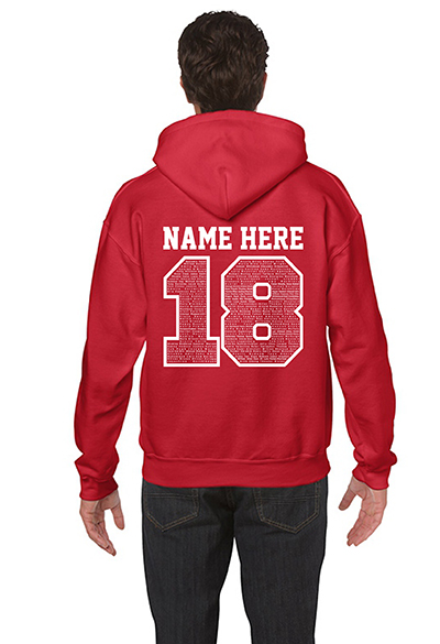 school leavers hoodies back
