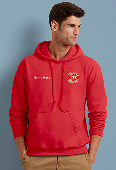 school leavers hoodies embroidered front