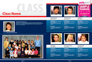 School Yearbook Sample Layouts