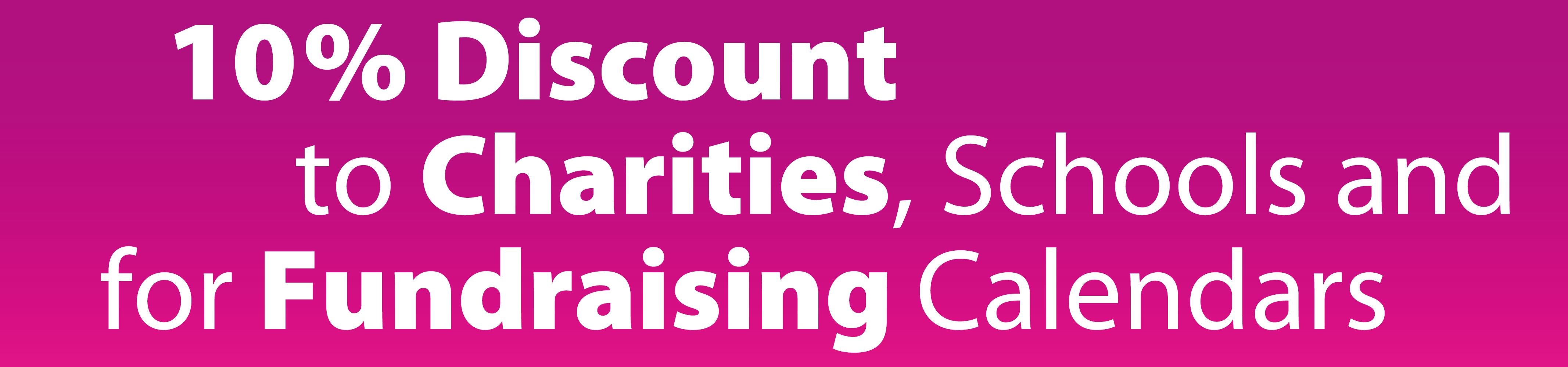 10% charity calendar discount