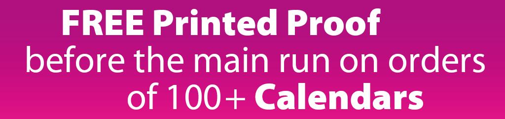 free printed calendar proof