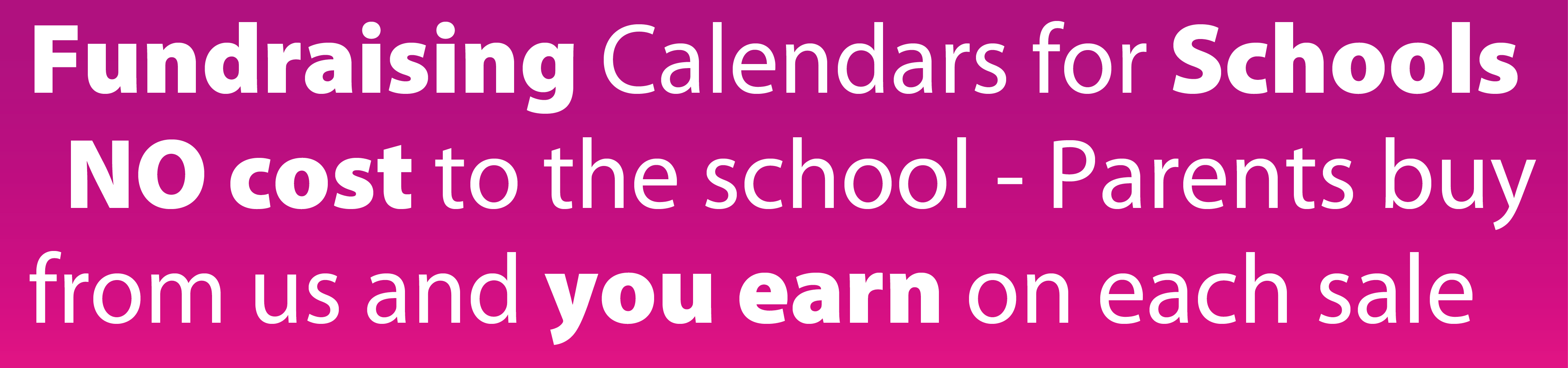 fundraising calendars for schools